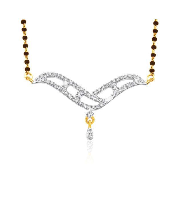Sparkles 0.13ct. Diamond & 18kt Gold Mangalsutra