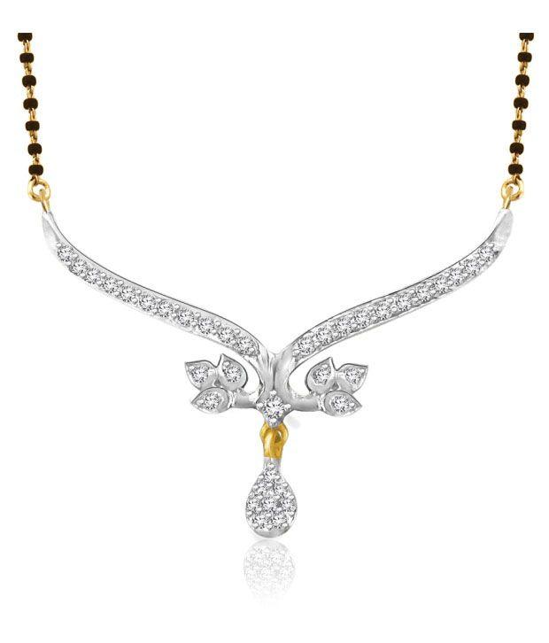 Sparkles 0.14ct. Diamond & 18kt Gold Mangalsutra