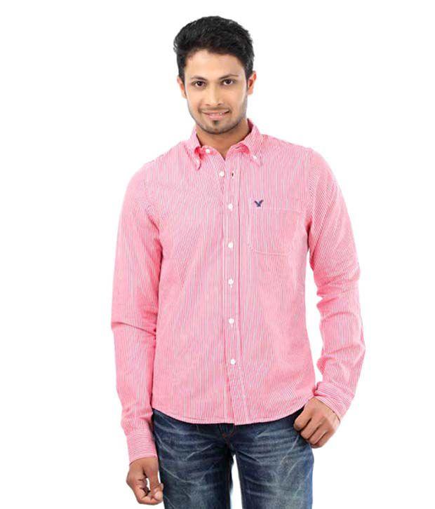 American Eagle Pink Men 39 S Casual Shirt Buy American