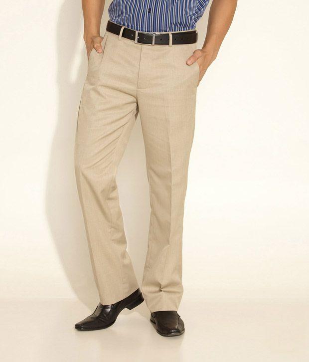 Allen Solly Beige Trouser