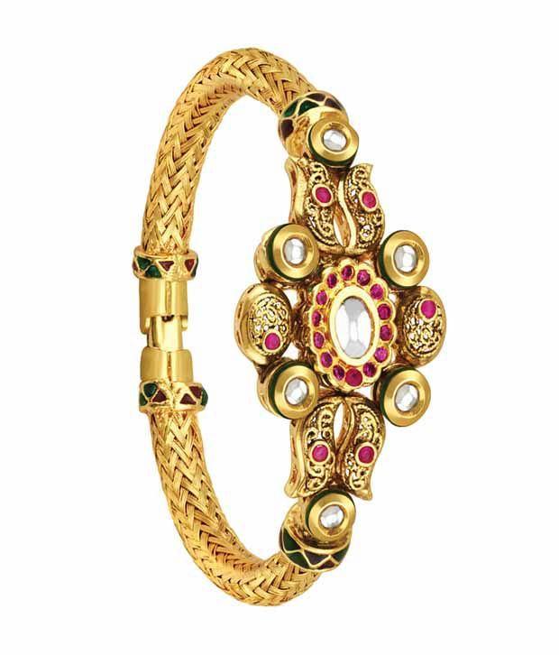 Spargz Intricate Design Golden Festive Kada