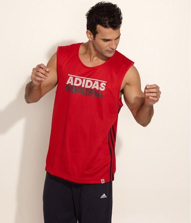 Adidas Red Basketball Reversible Sleeveless T Shirt Buy Adidas Red