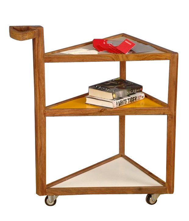 Orangetree Jeyo Three Shelf Table With Wheels