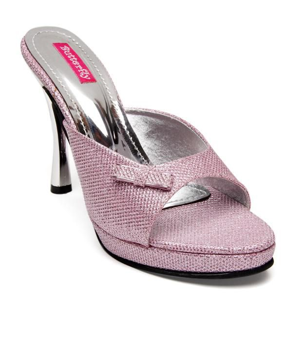 Butterfly Enticing Pink Slip-on Heels