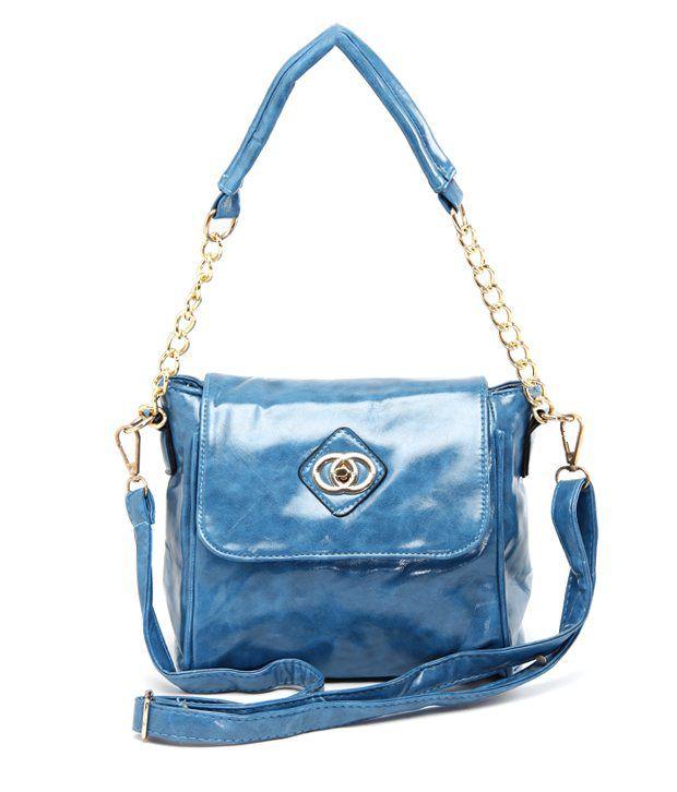 A-Progeny Blue Ombre Effect Satchel Bag