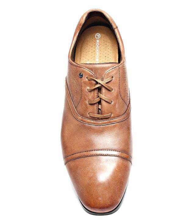 ... Rockport Tan Leather Oxford Shoes ...