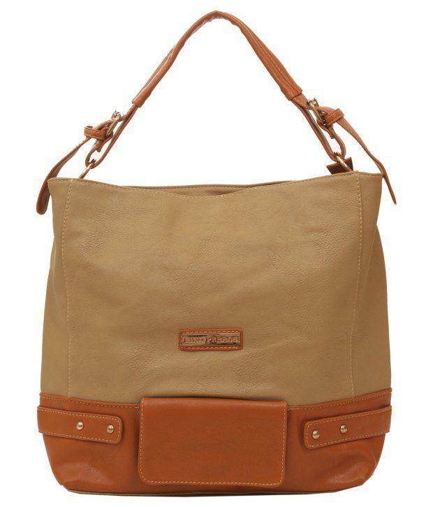 Lino Perros Beige & Brown Shoulder Bag