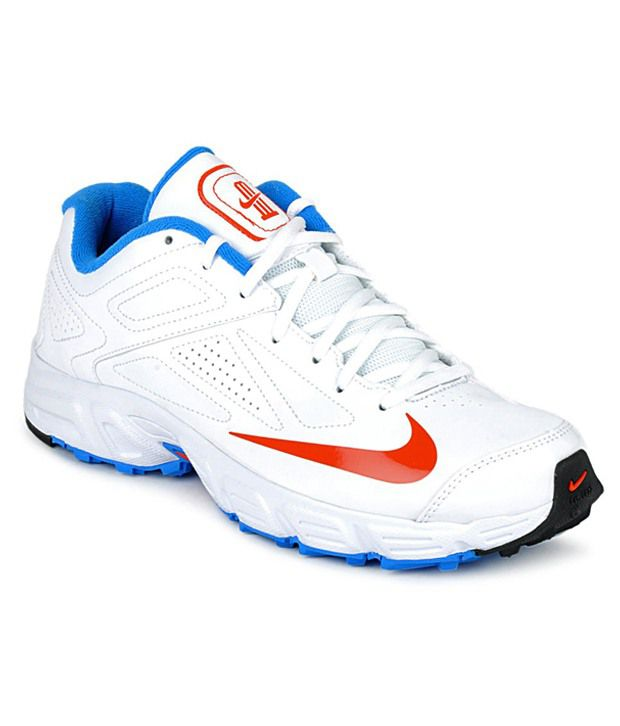 buy cheap 4fa19 f93ce Nike Potential White   Blue Cricket Shoes - Buy Nike Potential White   Blue Cricket  Shoes Online at Best Prices in India on Snapdeal