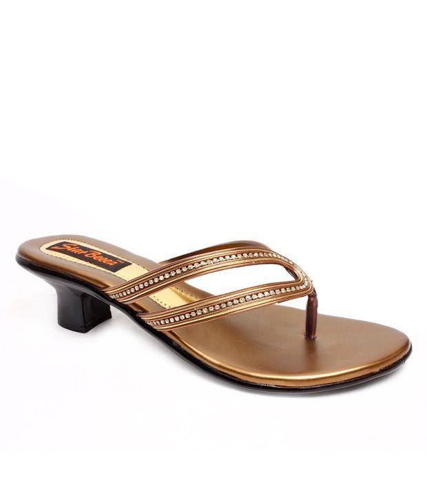 Star Beeez Captivating Copper Slip-on Heels