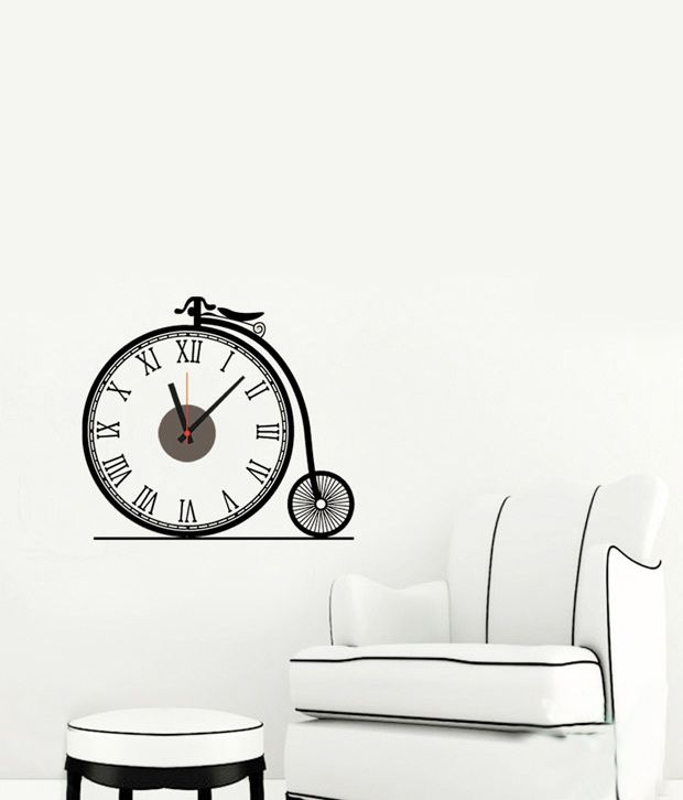 wall whispers ancient cycle clock sticker: buy wall whispers ancient