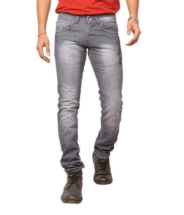 Louppee Light Grey Faded Jeans