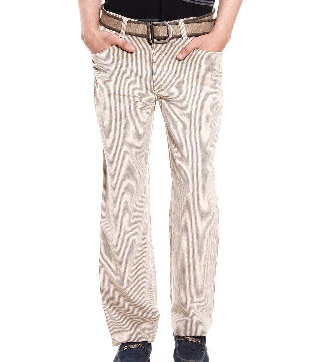 Fever Light Beige Corduroy Jeans