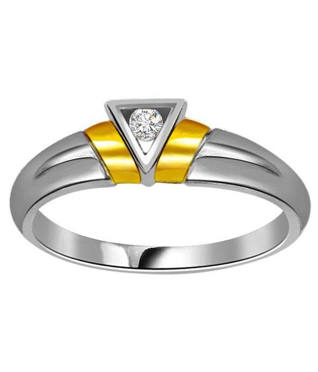 Surat Diamond 0.05 Cts. Diamond 18Kt Yellow Gold Single Diamond Rings