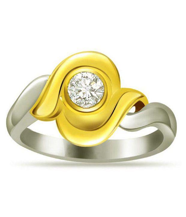 Surat Diamond 0.07 Cts. Diamond 18Kt Yellow Gold Single Diamond  Rings