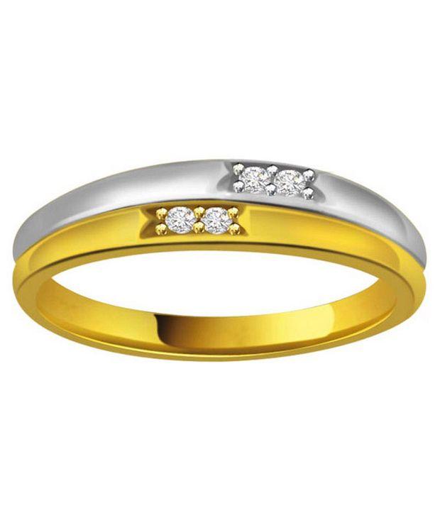Surat Diamond 0.04 Cts. Diamond 18Kt Yellow Gold Contemporary  Rings