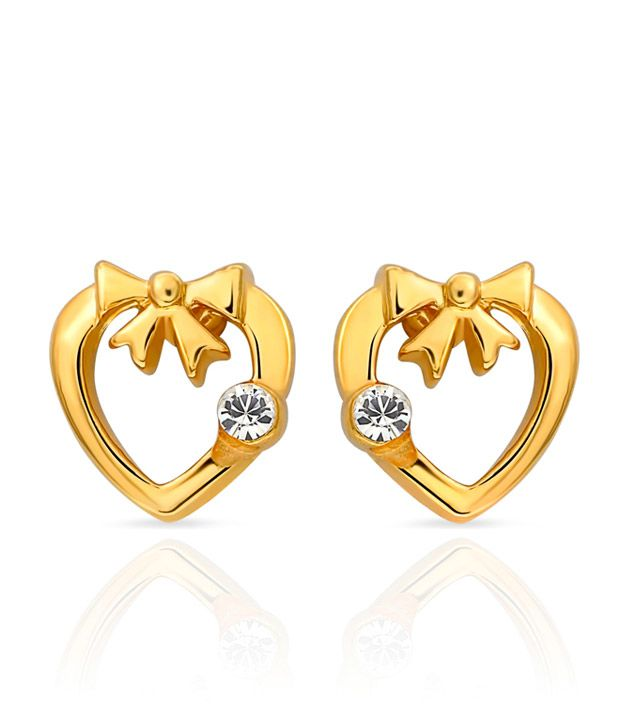 Mahi Eita Collection White Gold Plated Stud Earrings