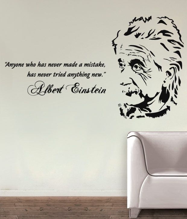 Wall Decor Stickers Snapdeal : Albert einstein wall decal buy