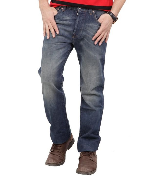 Denim,Levis Blue Faded Jeans