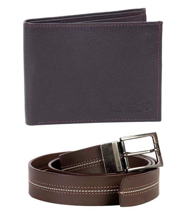 Lords Brown Belt & Black Wallet Combo