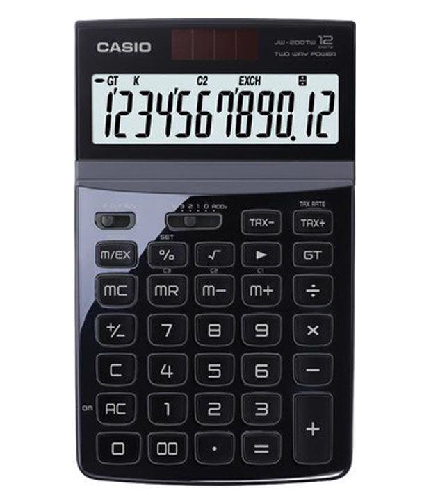 395c74bf012 Casio Compact Desktop Standard 12 Digit Calculator (JW-200TW)  Buy Online  at Best Price in India - Snapdeal