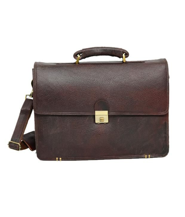 Chanter Leather Brown Laptop Bag - EA13