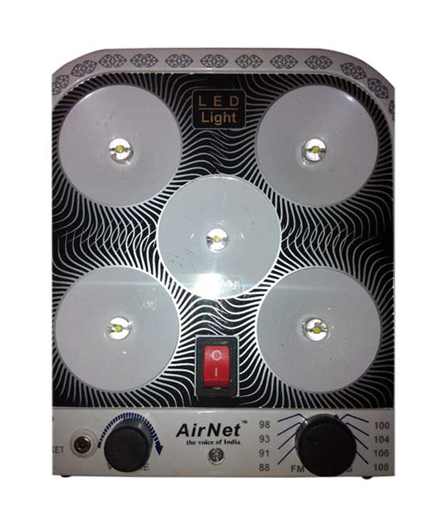 Airnet 5 LED with FM Radio Rechargeable Light