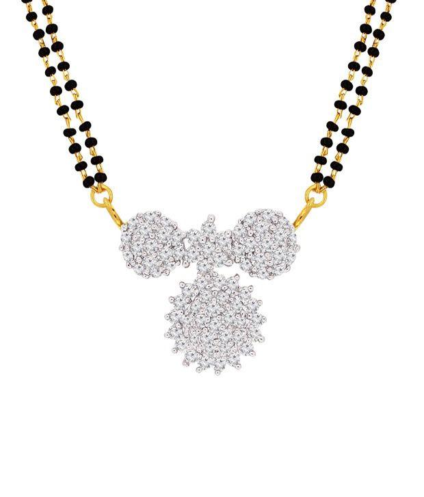 Spargz Divine Maharashtrian Vati Mangalsutra Studded with CZ