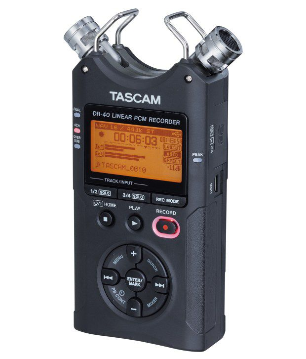 tascam dr 40 4 track handheld audio recorder w adjustable microphones and xlr combo buy. Black Bedroom Furniture Sets. Home Design Ideas