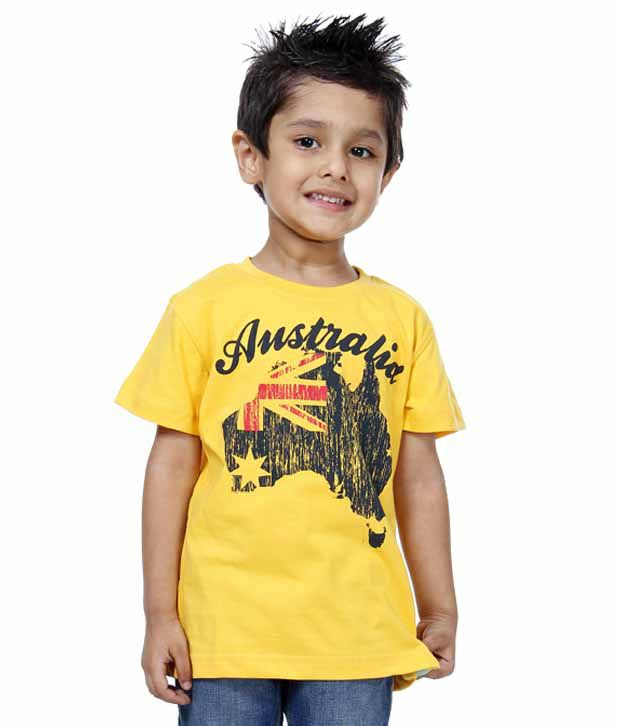 Palm tree yellow t shirt for kids buy palm tree yellow t for Yellow t shirt for kids