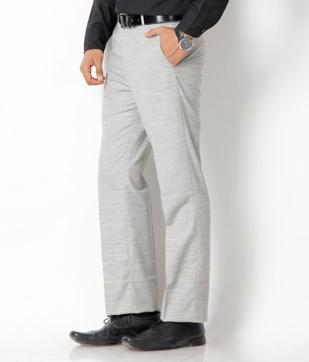 Platinum Studio Grey Semi Formal Trouser