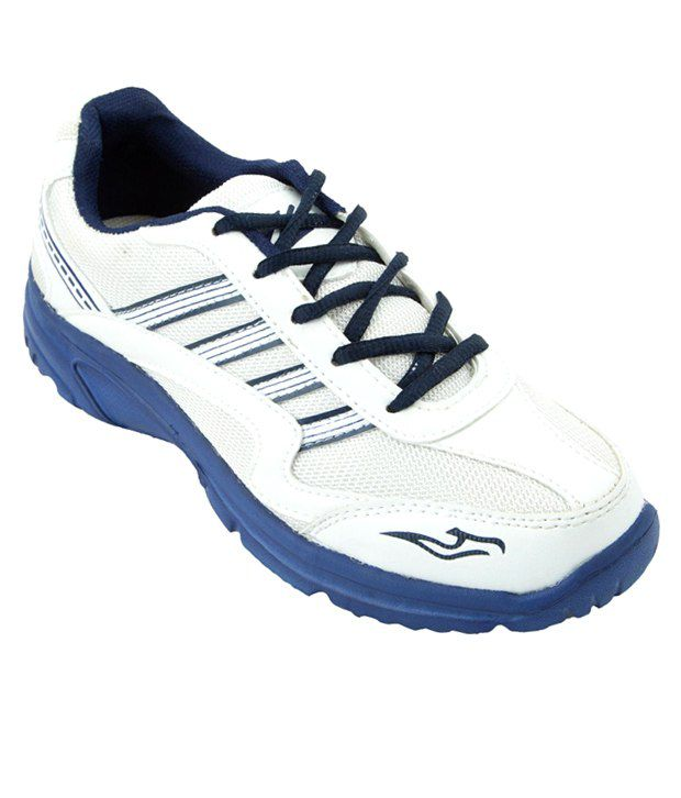 Zovi Swift White & Blue Sports Shoes