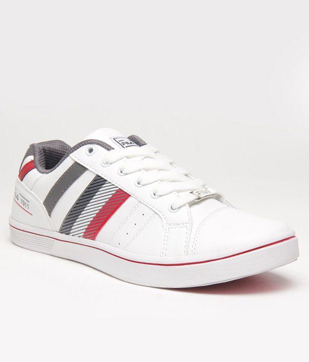 1557918f0db36c Fila White   Grey Sneakers Price in India