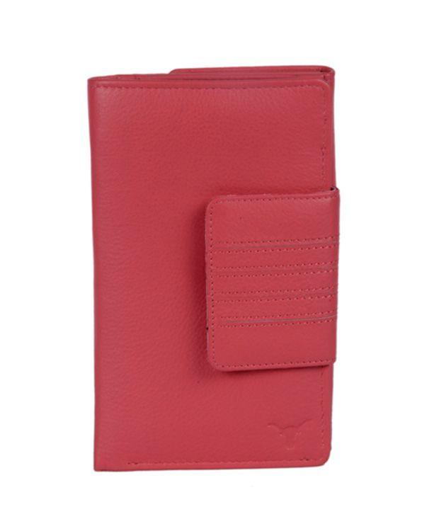 Hidekraft Women's Pink Leather Wallet