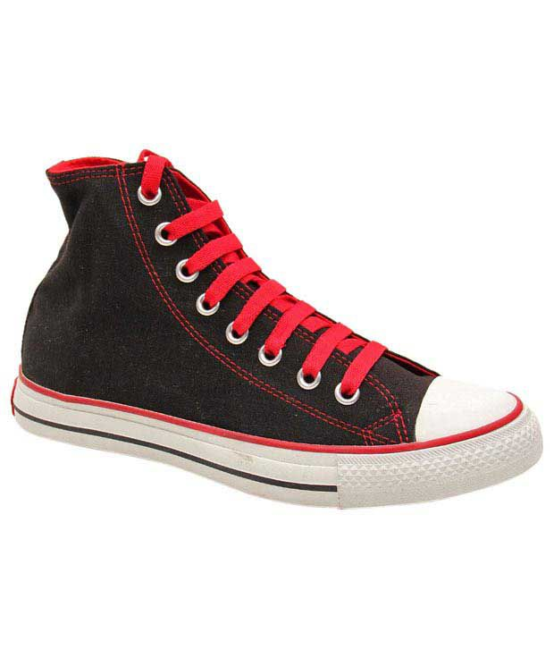 Converse Black  & Red Sneaker Shoes