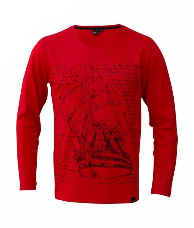 Rigo Red Voyage Ship T-Shirt