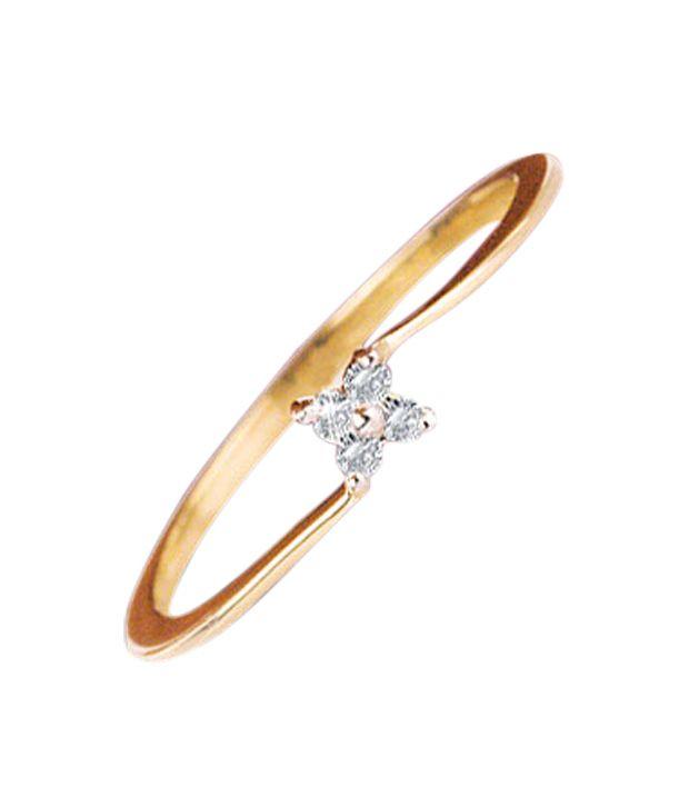 Sheetal Diamonds Certified 0.08 Cts. AWSOME REAL NATURAL DIAMOND RING