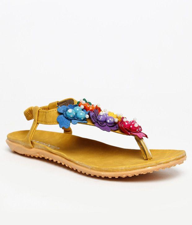 FNB-Nell Alluring Beige Flat Sandals