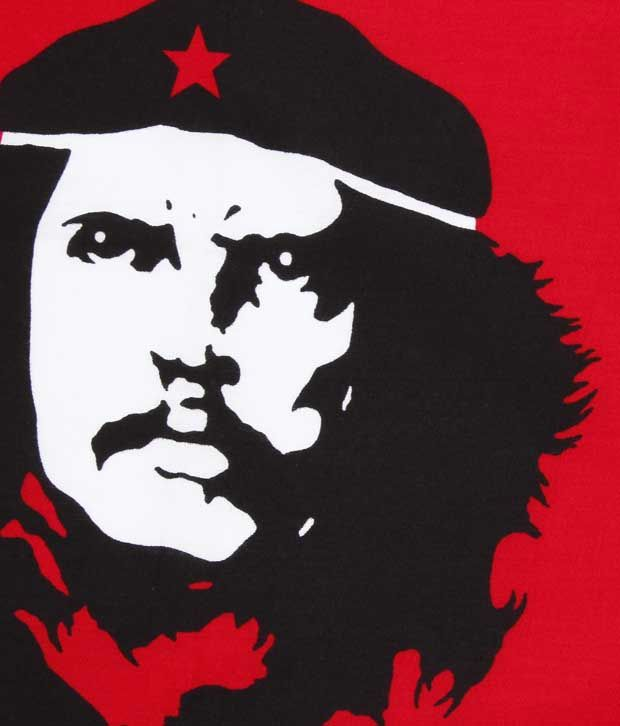 Etchs Red & Black Che Guevara Printed Bandana Buy line Rs