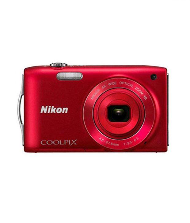 Nikon Coolpix S3300 16MP Digital Camera (Red)