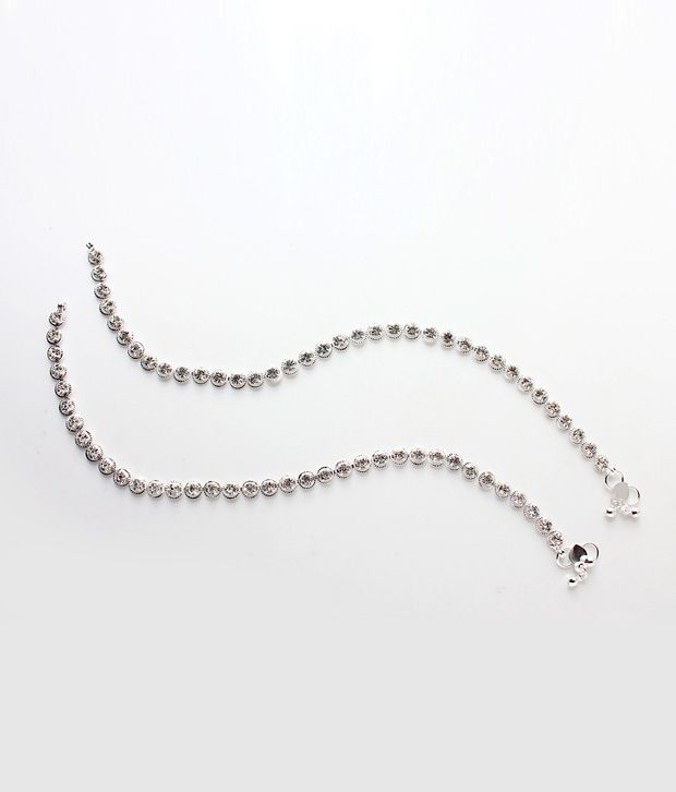 Variation Shining Diamond Studded Anklets