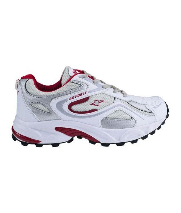 Sparx White \u0026 Maroon Sports Shoes - Buy