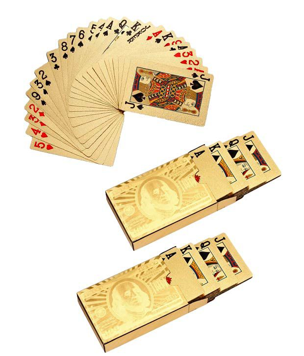 Ethnic Jewels Set of 2 Gold Foil Playing Cards