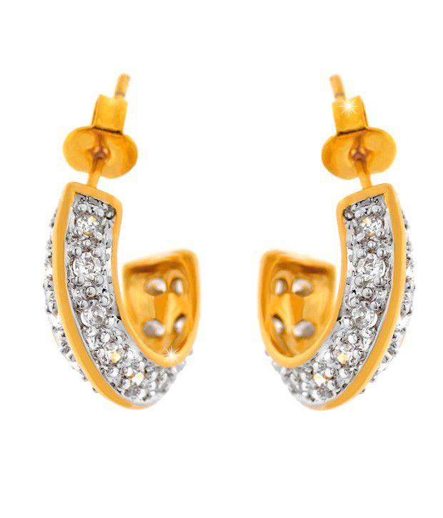 Ilina American Diamond Exquisite Hoop Earrings