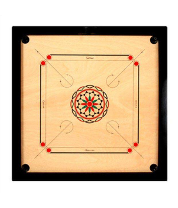 Golden Mini Carrom Board (21 X 21)