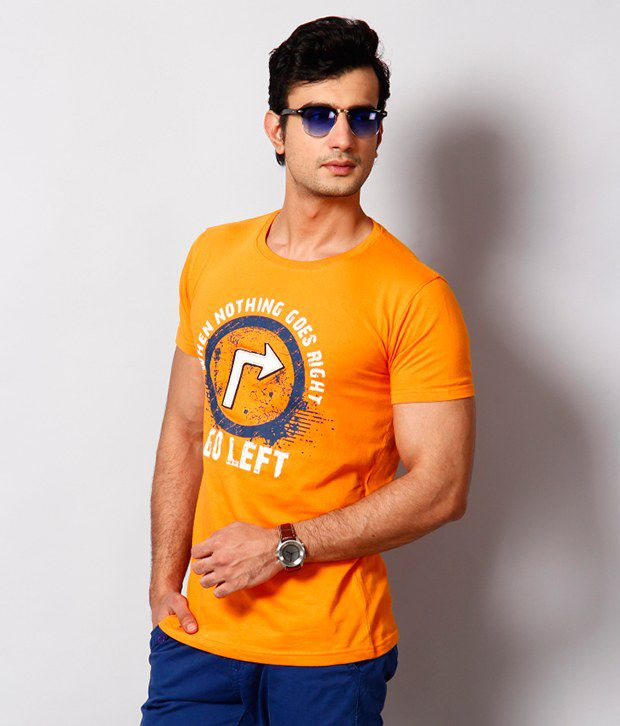 Cherokee Orange Printed T Shirt