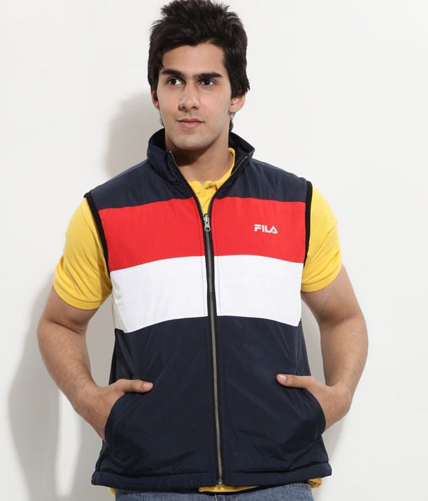 Fila Dark Blue Sleeveless Men s Jackets - Buy Fila Dark Blue ... 08a35c3d398f