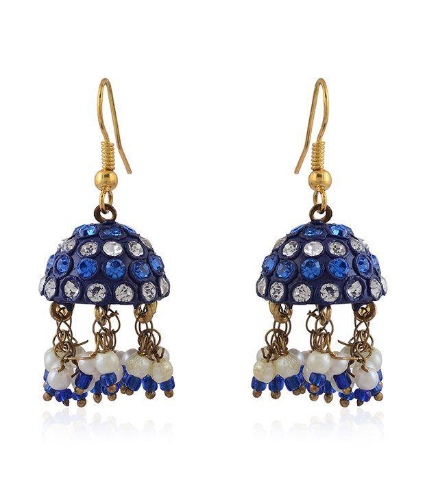 Rajrang Blue Canopy Drop Earrings
