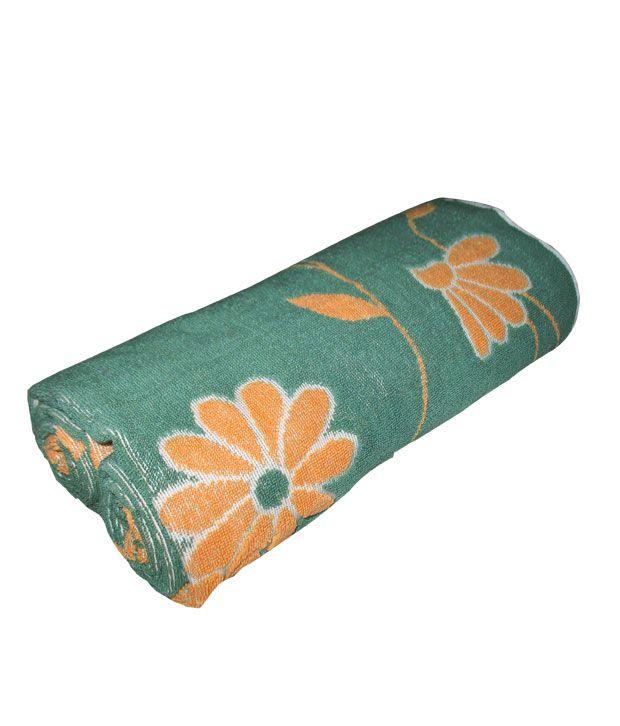 Fleecy Single Jacquard Bath Towel - Turquoise