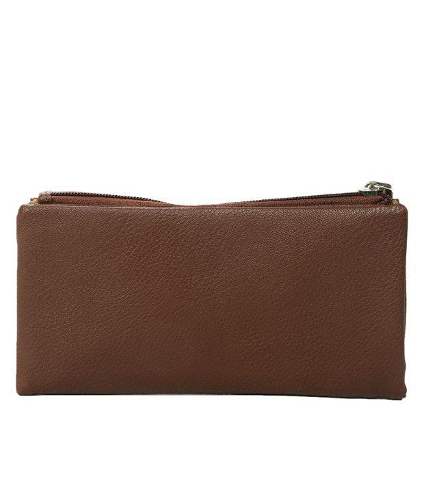 Adora Textured Brown Wallet