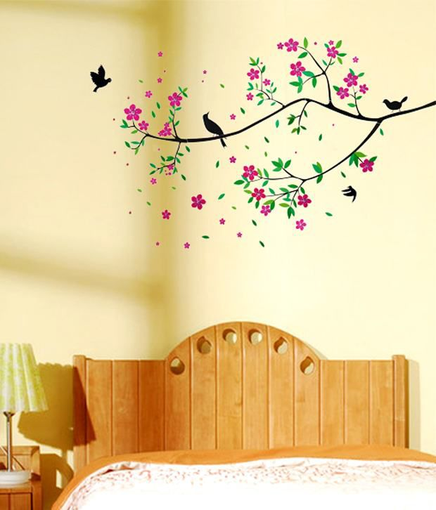 wow interiors and decors floral tree wall sticker - buy wow